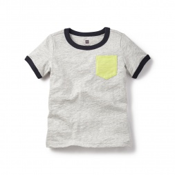 Grey Tripura Pocket Tee Shirt for Baby Boys | Tea Collection