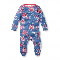 Blue Salma Floral Baby Pajamas for Girls | Tea Collection