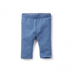 Pink & Blue Solid Capri Baby Leggings for Baby Girls | Tea Collection