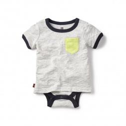 Gray Tripura Pocket Tee Bodysuit for Boys | Tea Collection