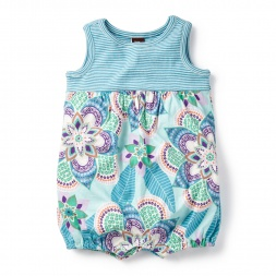 Blue Kalinda Tank Romper for Baby Girls | Tea Collection