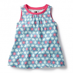 Blue & Pink Chandani Trapeze Dress for Baby Girls | Tea Collection