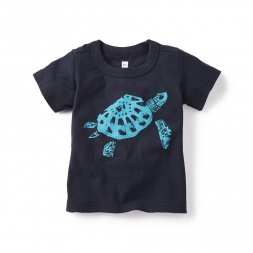 Navy Sea Turtle Graphic Tee for Baby Boys | Tea Collection