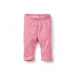 Pink Trikona Capri Baby Leggings for Girls | Tea Collection