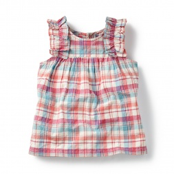 Pink Kohima Smocked Top for Girls | Tea Collection