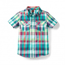 Varuna Plaid Beach Shirt for Boys | Tea Collection
