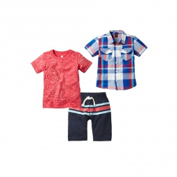 Brahma Beach Set Outfit for Boys | Tea Collection
