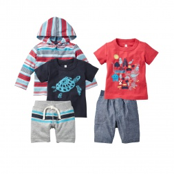 Madras Coast Set Outfit for Baby Boy | Tea Collection