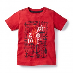 Language of the Sea Graphic Tee for Boys | Tea Collection