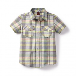 Abhay Plaid Shirt for Boys | Tea Collection