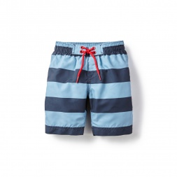 Deep Sea Stripe Board Shorts for Little Boys | Tea Collection
