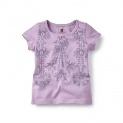 Madhubani Floral Graphic Tee for Little Girls | Tea Collection