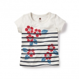 Nautical Blooms Graphic Tee for Little Girls | Tea Collection