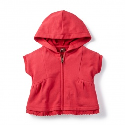 Mihika Zip Hoodie Sweatshirt for Girls | Tea Collection