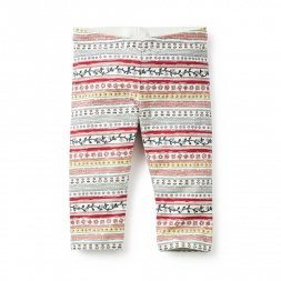 Kala Striped Capri Leggings for Girls | Tea Collection