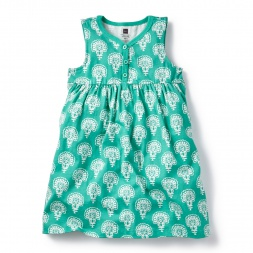 Dharini Henley Dress for Girls | Tea Collection