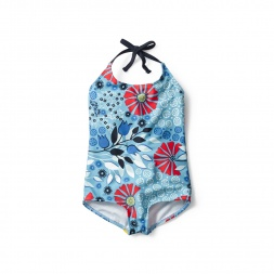 Seaside Garden Halter One-Piece for Little Girls | Tea Collection