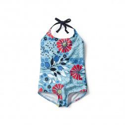 Seaside Garden Halter One-Piece for Little Girls | Tea Collection