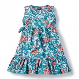 Laranya Wrap Dress for Little Girls | Tea Collection