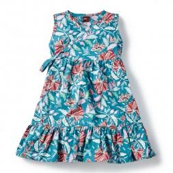 Laranya Wrap Dress for Little Girls | Tea Collection