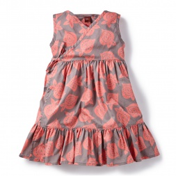 Dobby Salajama Wrap Dress for Girls | Tea Collection