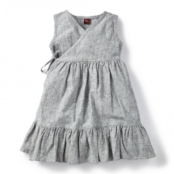 Chambray Wrap Dress for Little Girls | Tea Collection