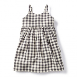 Daya Check Racerback Dress for Girls | Tea Collection