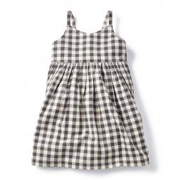 Daya Check Racerback Dress for Girls | Tea Collection