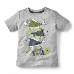 Madhubani Fish Graphic Tee for Little Boys | Tea Collection