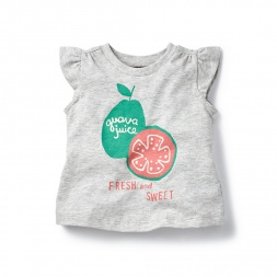 Guava Juice Graphic Tee for Baby Girls | Tea Collection