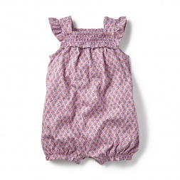 Aashika Smocked Romper  for Baby Girls | Tea Collection