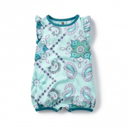 Bandana Flutter Romper for Girls | Tea Collection