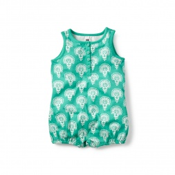 Dharini Henley Romper  for Baby Girls | Tea Collection