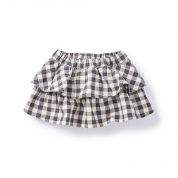 Daya Check Ruffle Bloomers  for Baby Girls | Tea Collection