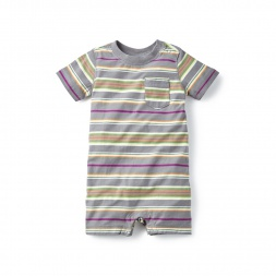 Sabrang Striped Romper for Baby Boys | Tea Collection