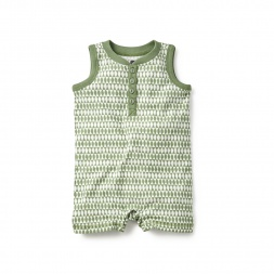 Diamond Fields Henley Romper for Boys | Tea Collection
