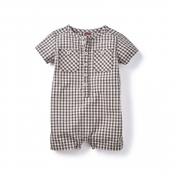Jahan Check Romper for Boys | Tea Collection