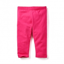 Pink Solid Capri Leggings for Little Girls | Tea Collection