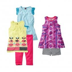 Prachi Parasol Set Outfit for Little Girls | Tea Collection