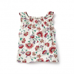 Mahubala Flutter Tank Top for Little Girls | Tea Collection