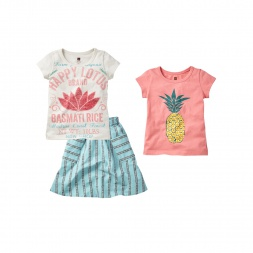 Happy Lotus Set Outfit for Little Girls | Tea Collection