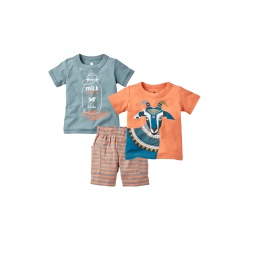 Holi Goat Set Outfit for Baby Boys | Tea Collection