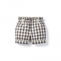 Daya Check Bubble Shorts for Girls | Tea Collection