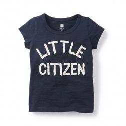 Little Citizen Graphic Tee Shirt for Girls | Tea Collection