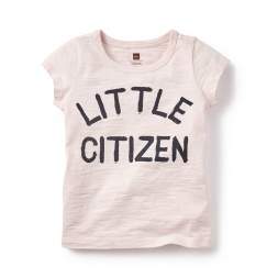 Little Citizen Graphic Tee Shirt for Girls | Tea Collection
