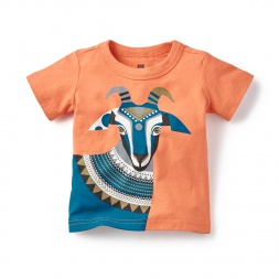 Holi Goat Graphic Tee for Baby Boys | Tea Collection