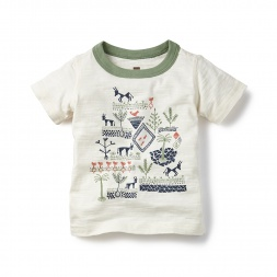 Warli Farm Graphic Tee for Baby Boys | Tea Collection