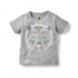 Rangoli Lion Graphic Tee for Baby Boys | Tea Collection