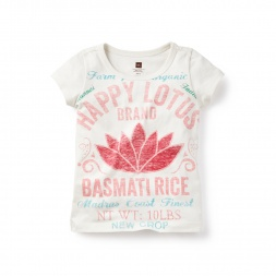 Happy Lotus Graphic Tee for Girls | Tea Collection