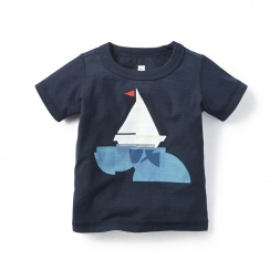 Origami Boat Graphic Tee Shirt for Baby Boys | Tea Collection